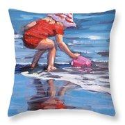 Summer Fun Throw Pillow by Laura Lee Zanghetti