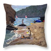 Summer In Spain Throw Pillow by Andrew Macara