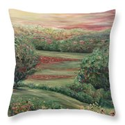 Summer In Tuscany Throw Pillow by Nadine Rippelmeyer