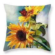 Summer Throw Pillow by Svitozar Nenyuk