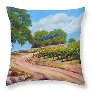 Summer Walk Throw Pillow by Margaret  Plumb
