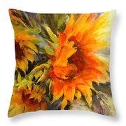 Sunburst Throw Pillow by Madeleine Holzberg