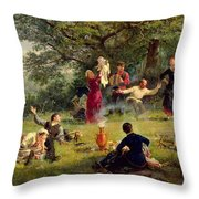 Sunday Throw Pillow by Alexei Korsuchin