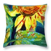 Sunflower Head 4 Throw Pillow by Kathy Braud