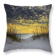 Sunlit Passage Throw Pillow by Janet Fikar