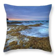 Sunrise Beneath the Storm Throw Pillow by Mike  Dawson
