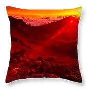 Sunrise Haleakala Throw Pillow by Harry Spitz