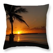 Sunrise In Key West Fl Throw Pillow by Susanne Van Hulst
