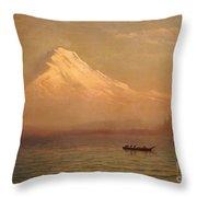 Sunrise On Mount Tacoma  Throw Pillow by Albert Bierstadt