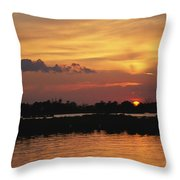 Sunrise Over Delacroix Island Throw Pillow by Medford Taylor