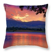 Sunset 6.27.10 - 28 Throw Pillow by James BO  Insogna