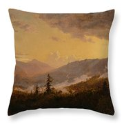 Sunset After A Storm In The Catskill Mountains Throw Pillow by Jasper Francis Cropsey