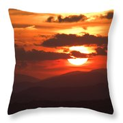 Sunset From The Blue Ridge Parkway Throw Pillow by John Harmon