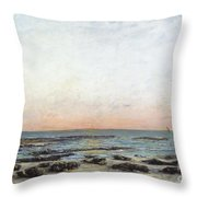 Sunset Throw Pillow by Gustave Courbet