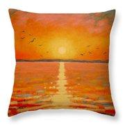 Sunset Throw Pillow by John  Nolan
