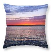 Sunset On Barnegat Bay I - Jersey Shore Throw Pillow by Angie Tirado