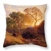 Sunset Throw Pillow by Samuel Palmer