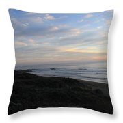 Sunset Surf Throw Pillow by Linda Woods