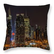 Super Moon Rising Throw Pillow by Susan Candelario