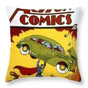 Superman Comic Book, 1938 Throw Pillow by Granger