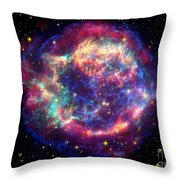 Supernova Remnant Cassiopeia A Throw Pillow by Stocktrek Images