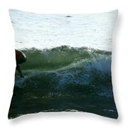 Surf Throw Pillow by Stephanie Haertling