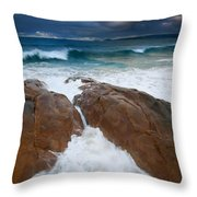 Surfs Up Throw Pillow by Mike  Dawson
