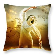 Surrender Throw Pillow by Mary Hood