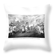 Surrender Of Lord Cornwallis At Yorktown Throw Pillow by War Is Hell Store