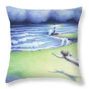 Suspended In Light Throw Pillow by Amy S Turner
