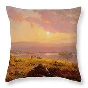 Susquehanna River Throw Pillow by Jasper Francis Cropsey
