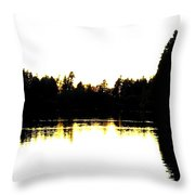 Swan Silhouette Throw Pillow by Will Borden