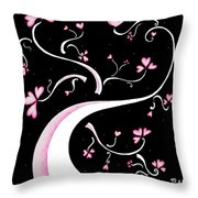 Sweet Charity By Madart Throw Pillow by Megan Duncanson