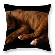 Sweet Dreams Puppy Throw Pillow by Angie Tirado-McKenzie