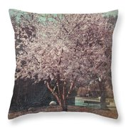 Sweet Kisses Under the Tree Throw Pillow by Laurie Search