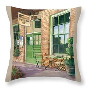 Sweetie Pies Bakery Throw Pillow by Gail Chandler