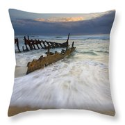 Swept Ashore Throw Pillow by Mike  Dawson