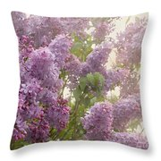 Swimming In A Sea Of Lilacs Throw Pillow by Cindy Garber Iverson