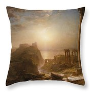Syria by the Sea Throw Pillow by Frederic Edwin Church