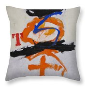 T S Notebook Throw Pillow by Cliff Spohn
