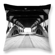Taftsville Covered Bridge Throw Pillow by Greg Fortier