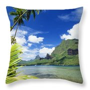 Tahiti, Moorea Throw Pillow by Joe Carini - Printscapes