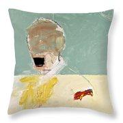 Talking Head Throw Pillow by Cliff Spohn