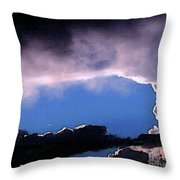 Talking To God Throw Pillow by Methune Hively
