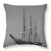 Tall Ship Denmark  Throw Pillow by Dustin K Ryan