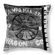Tampa Harness Wagon N Company Throw Pillow by David Lee Thompson