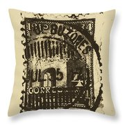 Tan Mark Throw Pillow by Brian Drake - Printscapes