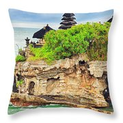 Tanah Lot Throw Pillow by MotHaiBaPhoto Prints