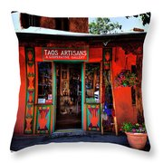 Taos Artisans Gallery Throw Pillow by David Patterson