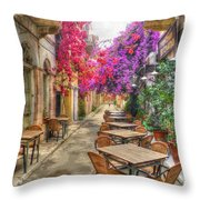 Tavern In Bloom Throw Pillow by Michael Garyet